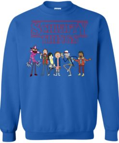 image 861 247x296px Schwifty Things Stranger Things ft Rick and Morty Sweater