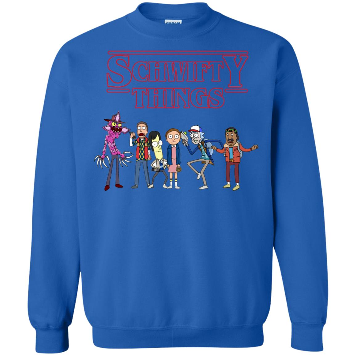 image 861px Schwifty Things Stranger Things ft Rick and Morty Sweater