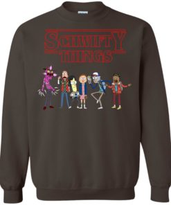 image 862 247x296px Schwifty Things Stranger Things ft Rick and Morty Sweater