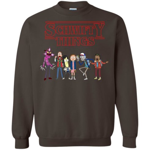 image 862 490x490px Schwifty Things Stranger Things ft Rick and Morty Sweater
