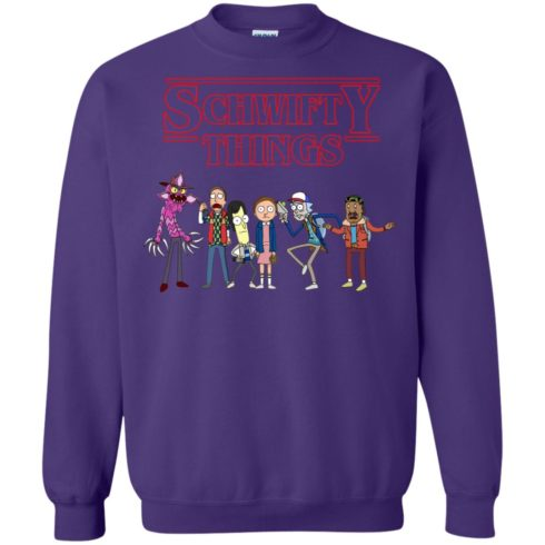 image 863 490x490px Schwifty Things Stranger Things ft Rick and Morty Sweater