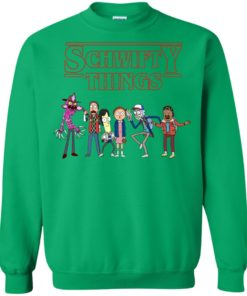 image 864 247x296px Schwifty Things Stranger Things ft Rick and Morty Sweater