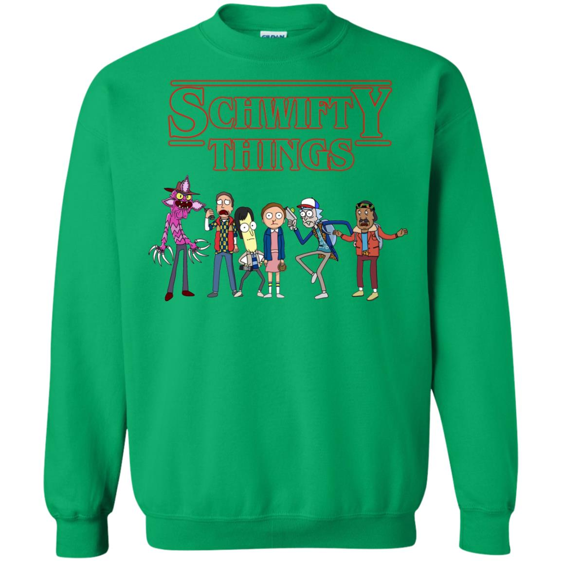 image 864px Schwifty Things Stranger Things ft Rick and Morty Sweater