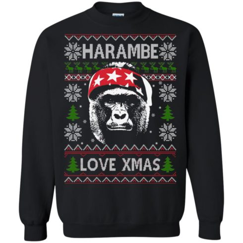 image 865 490x490px Harambe Love Xmas Christmas Sweater