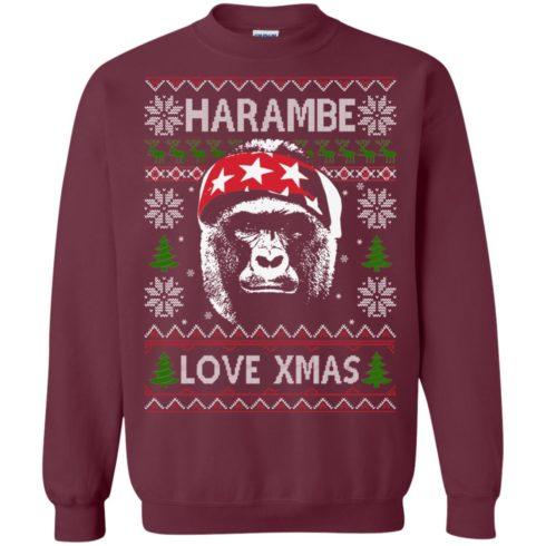 image 866 490x490px Harambe Love Xmas Christmas Sweater
