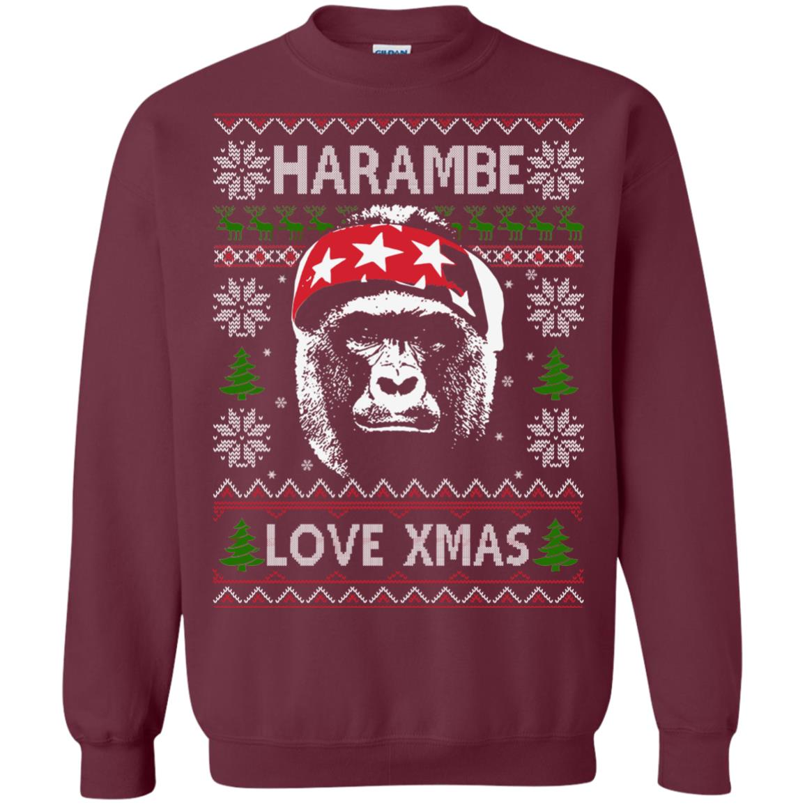 image 866px Harambe Love Xmas Christmas Sweater