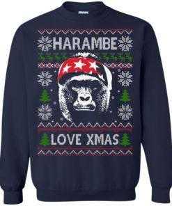 image 867 247x296px Harambe Love Xmas Christmas Sweater