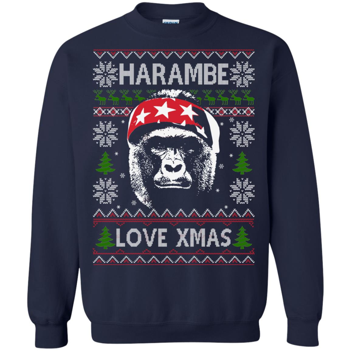 image 867px Harambe Love Xmas Christmas Sweater