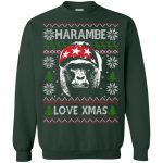 harambe love xmas christmas sweater