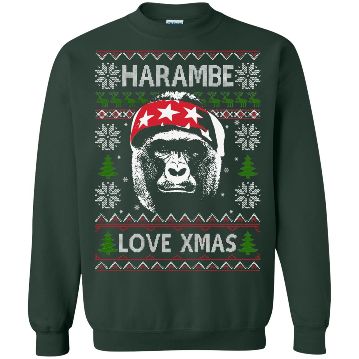 image 868px Harambe Love Xmas Christmas Sweater