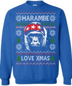 image 869 247x296px Harambe Love Xmas Christmas Sweater