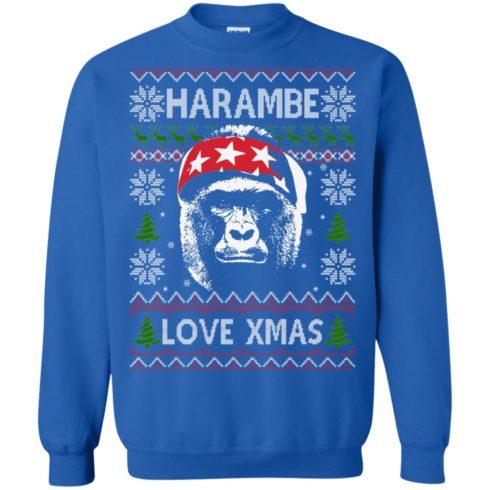 image 869 490x490px Harambe Love Xmas Christmas Sweater