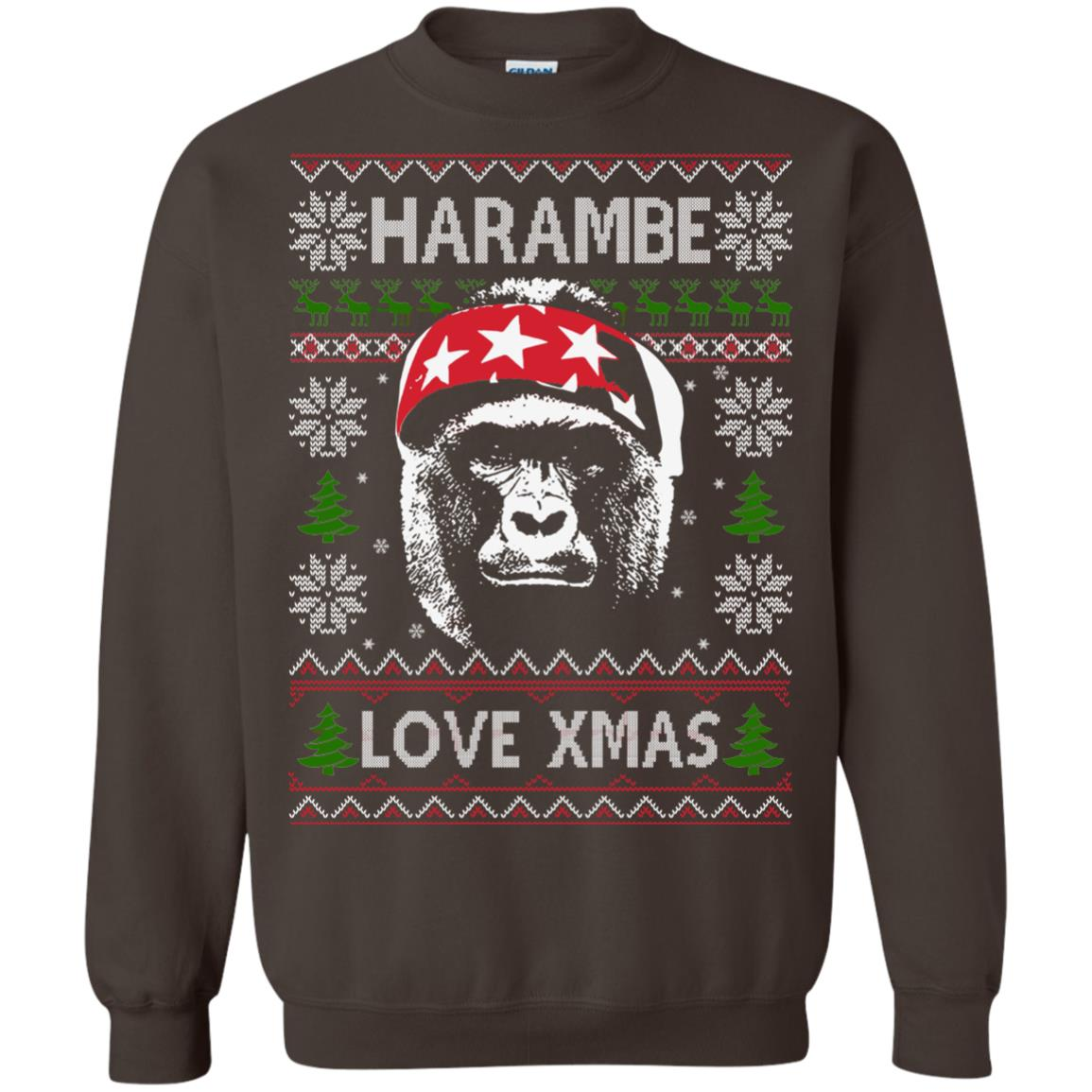 image 870px Harambe Love Xmas Christmas Sweater