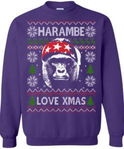 image 871 247x296px Harambe Love Xmas Christmas Sweater