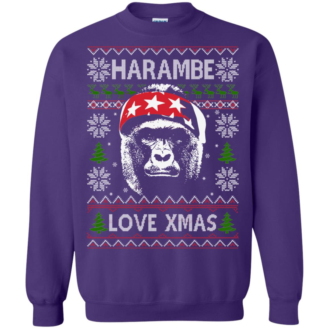 image 871px Harambe Love Xmas Christmas Sweater