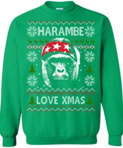 image 872 247x296px Harambe Love Xmas Christmas Sweater