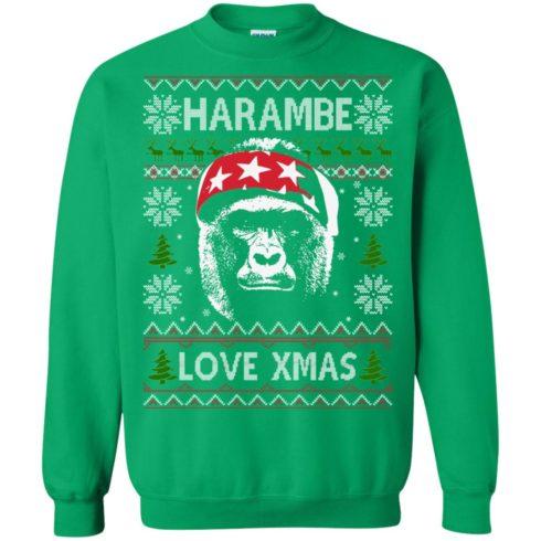 image 872 490x490px Harambe Love Xmas Christmas Sweater