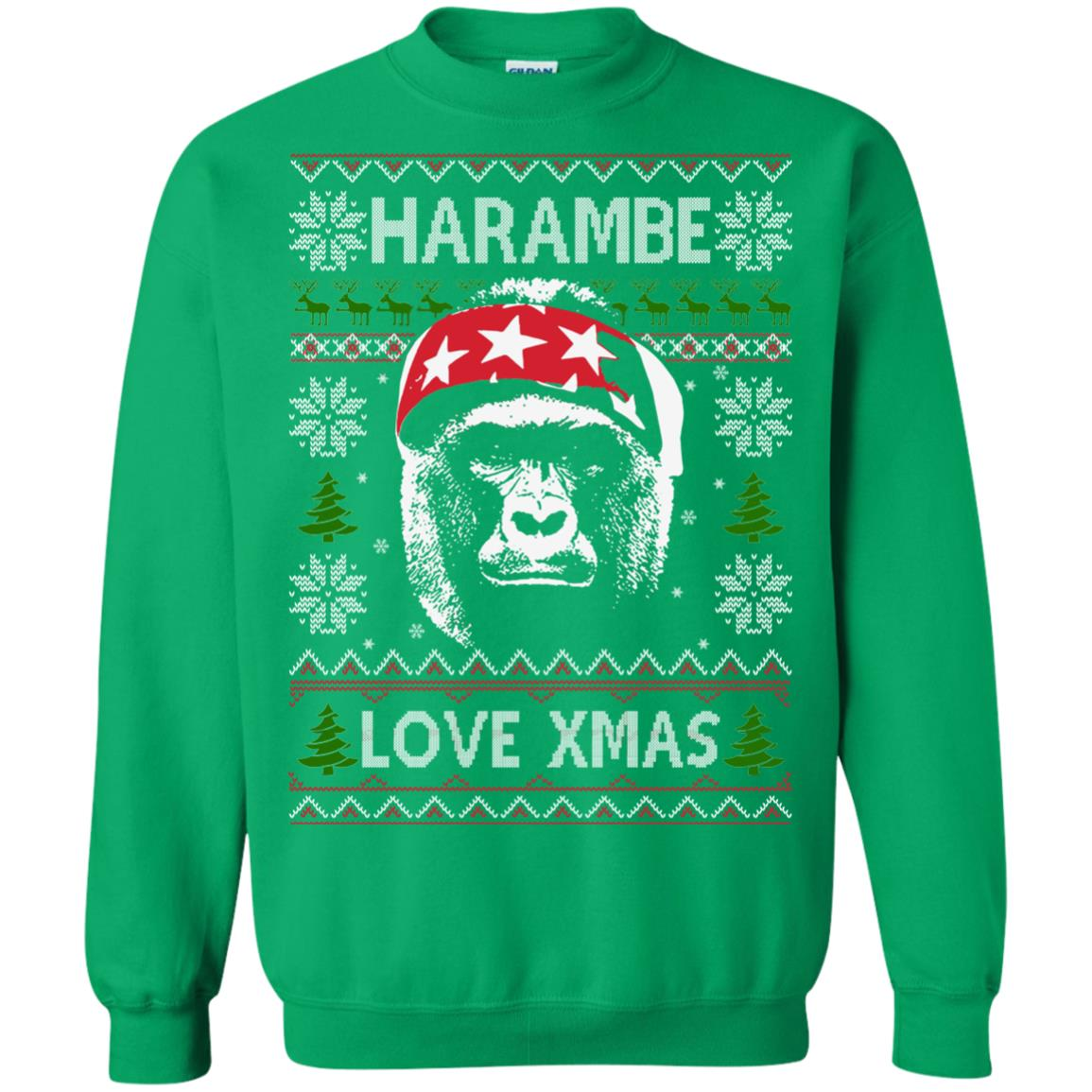 image 872px Harambe Love Xmas Christmas Sweater
