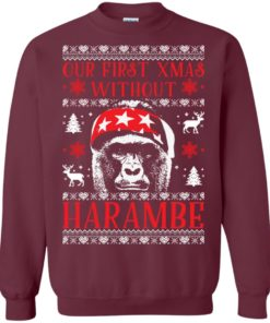 image 874 247x296px Our First Xmas Without Harambe Christmas Sweater