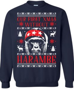image 875 247x296px Our First Xmas Without Harambe Christmas Sweater