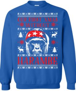 image 877 247x296px Our First Xmas Without Harambe Christmas Sweater