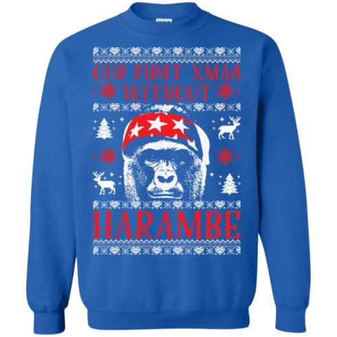 image 877 490x490px Our First Xmas Without Harambe Christmas Sweater
