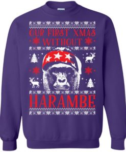 image 879 247x296px Our First Xmas Without Harambe Christmas Sweater