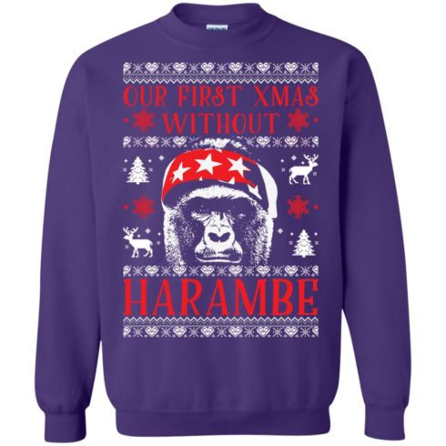 image 879 490x490px Our First Xmas Without Harambe Christmas Sweater