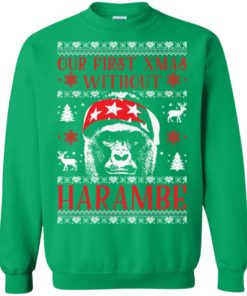 image 880 247x296px Our First Xmas Without Harambe Christmas Sweater