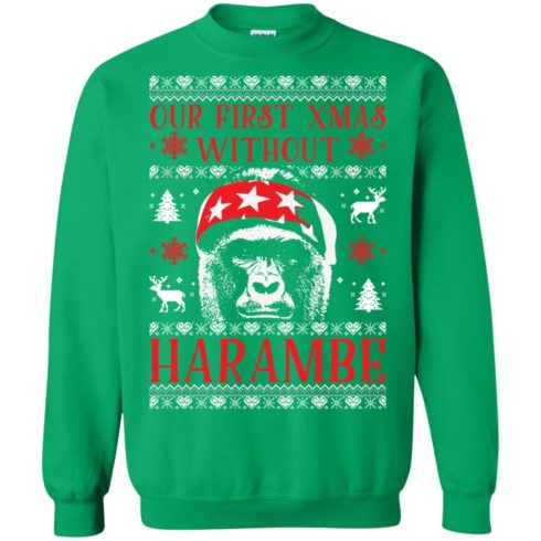 image 880 490x490px Our First Xmas Without Harambe Christmas Sweater