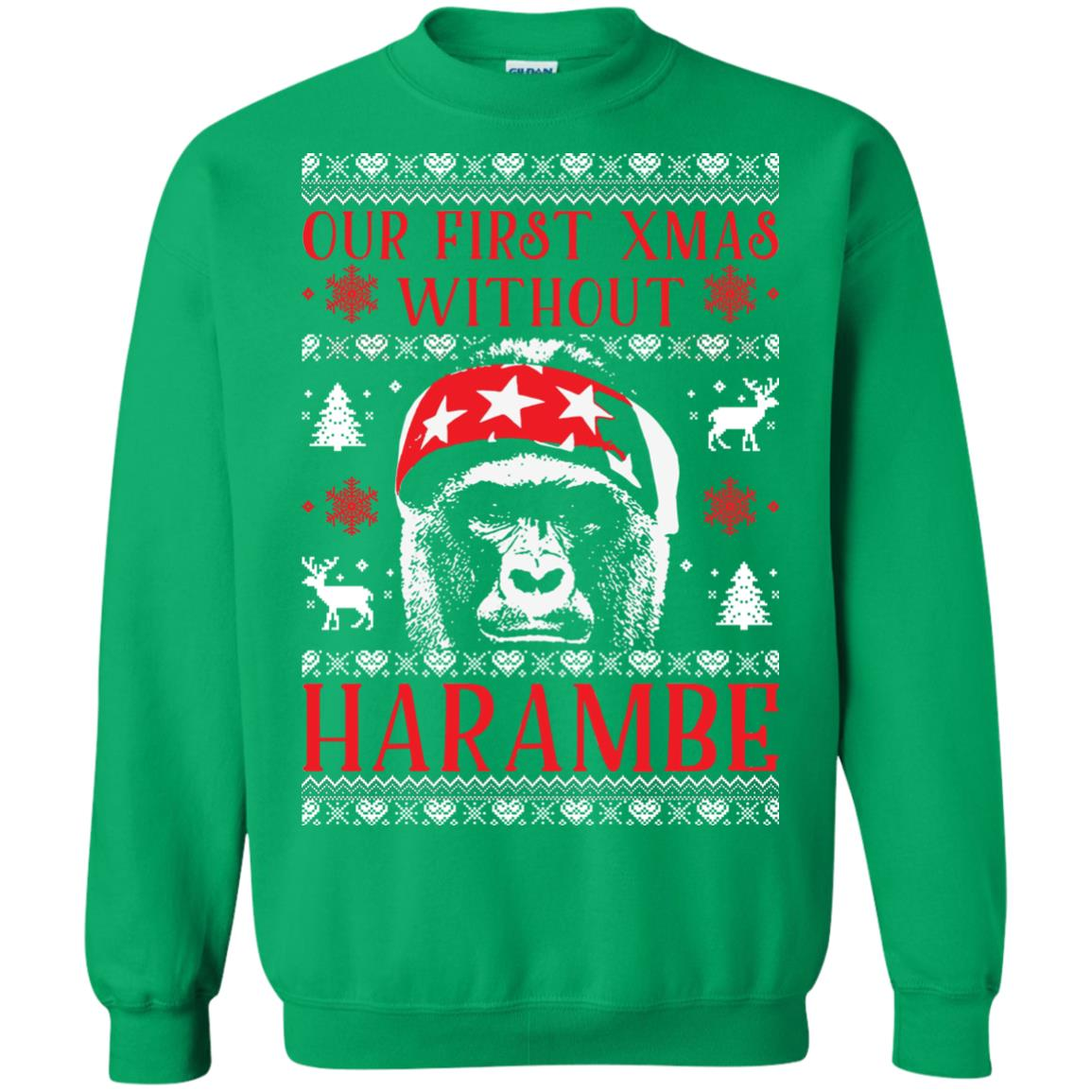 image 880px Our First Xmas Without Harambe Christmas Sweater