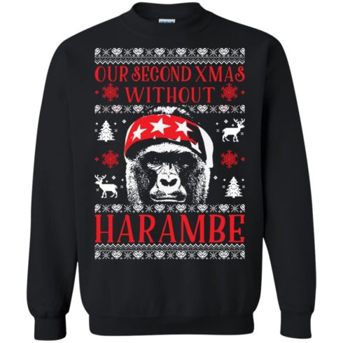 image 881 490x490px Our Second Xmas Without Harambe Christmas Sweater