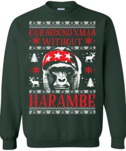 image 884 247x296px Our Second Xmas Without Harambe Christmas Sweater