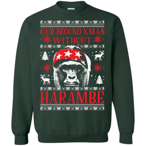 image 884 490x490px Our Second Xmas Without Harambe Christmas Sweater