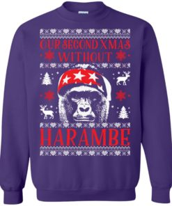image 887 247x296px Our Second Xmas Without Harambe Christmas Sweater