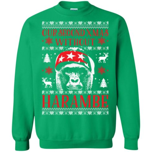 image 888 490x490px Our Second Xmas Without Harambe Christmas Sweater