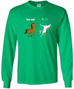 image 946 247x296px My aunt unicorn vs your aunt horse youth t shirt