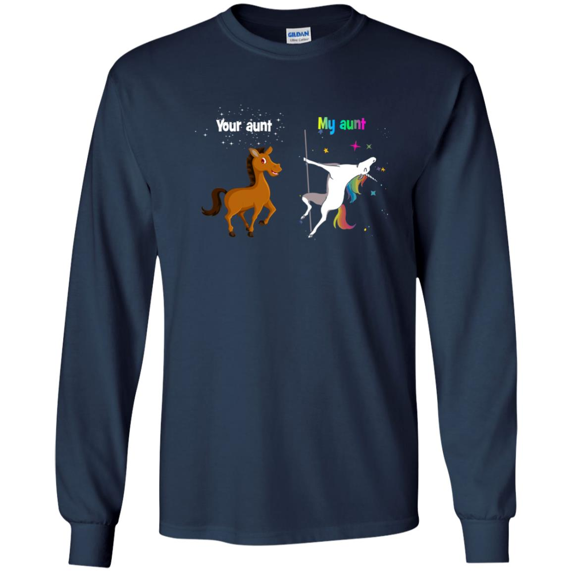 image 948px My aunt unicorn vs your aunt horse youth t shirt