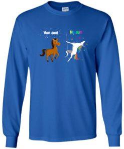 image 949 247x296px My aunt unicorn vs your aunt horse youth t shirt