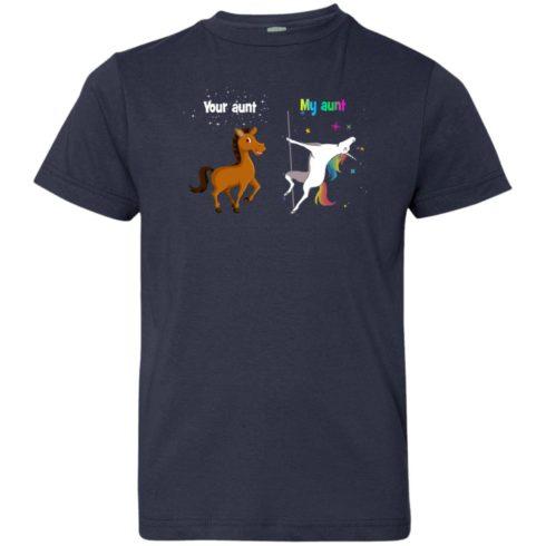 image 953 490x490px My aunt unicorn vs your aunt horse youth t shirt
