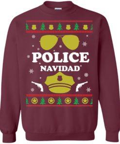 image 96 247x296px Police Navidad Christmas Sweater, Long Sleeve