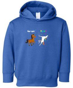 image 960 247x296px My aunt unicorn vs your aunt horse youth t shirt