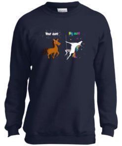 image 962 247x296px My aunt unicorn vs your aunt horse youth t shirt