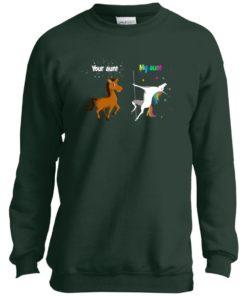 image 963 247x296px My aunt unicorn vs your aunt horse youth t shirt