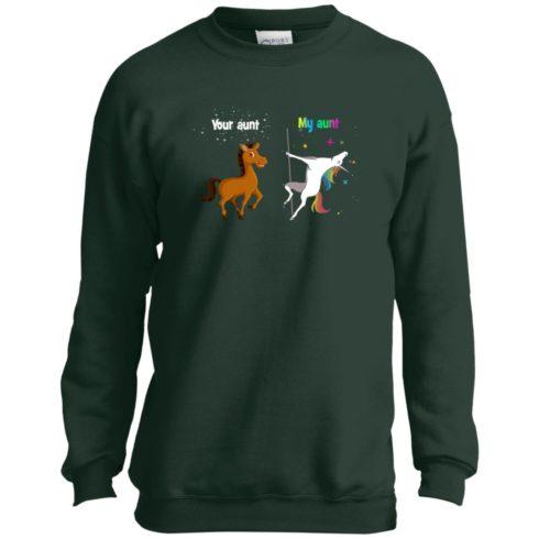 image 963 490x490px My aunt unicorn vs your aunt horse youth t shirt
