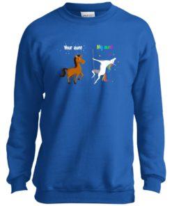 image 964 247x296px My aunt unicorn vs your aunt horse youth t shirt