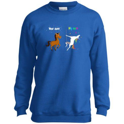 image 964 490x490px My aunt unicorn vs your aunt horse youth t shirt