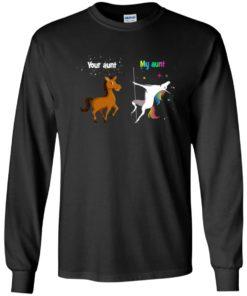 image 965 247x296px My aunt unicorn vs your aunt horse youth t shirt