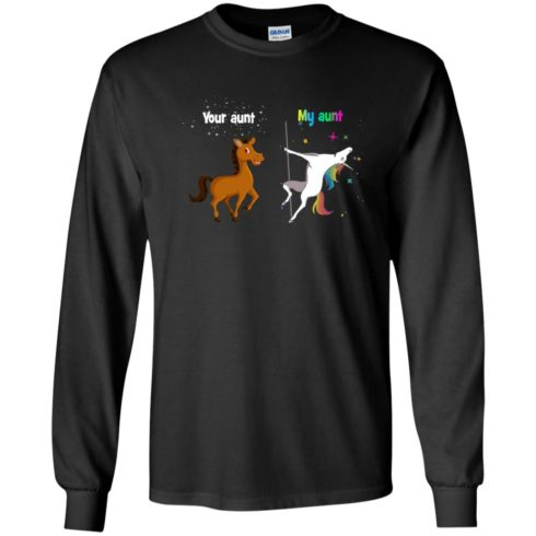 image 965 490x490px My aunt unicorn vs your aunt horse youth t shirt