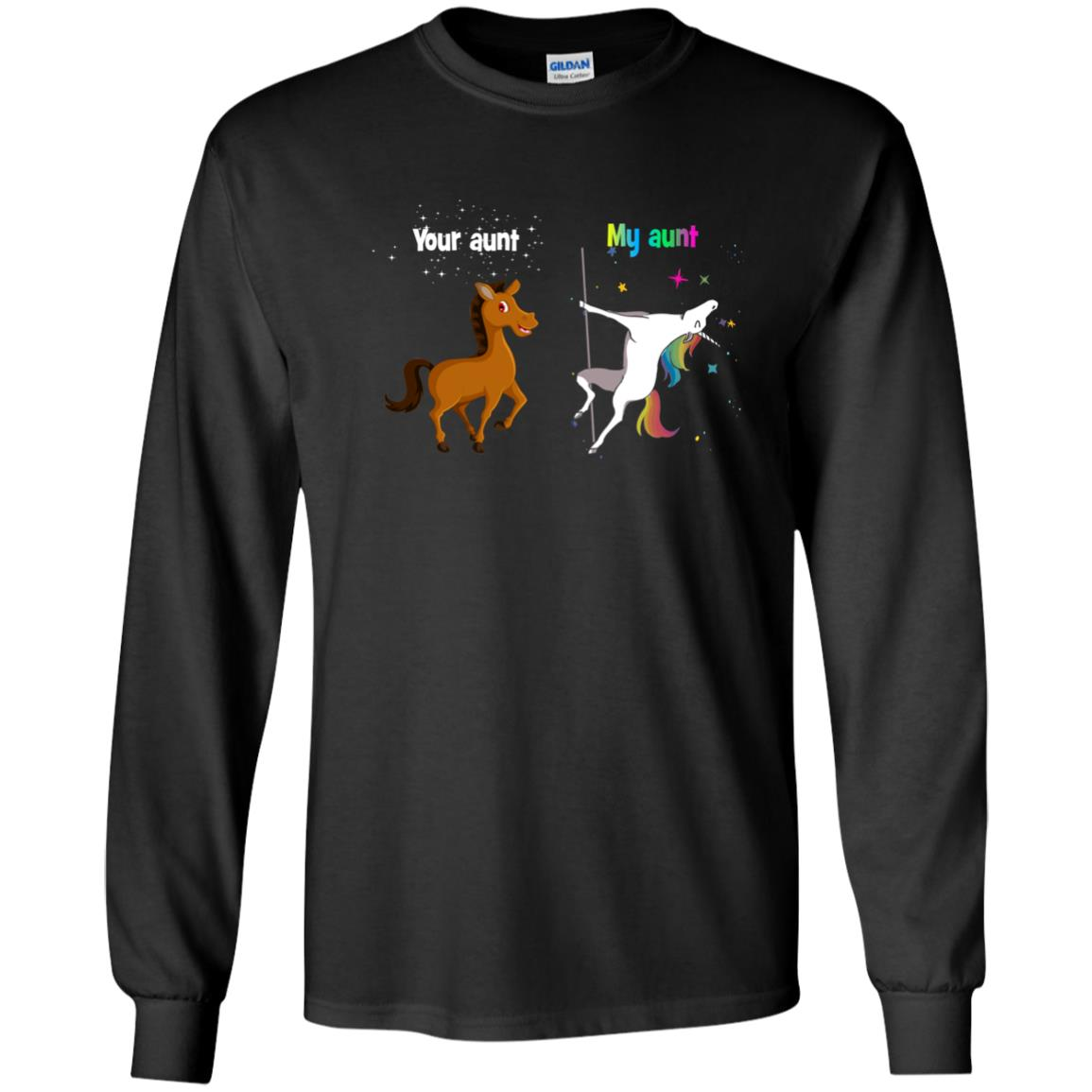 image 965px My aunt unicorn vs your aunt horse youth t shirt